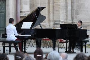 Concert jeudi 26 juillet, valse pour deux pianos